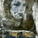 Grotte - Monotype sous presse & chine collé - 11 X 7 1/2